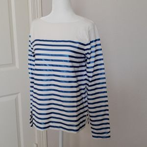 Jcrew blue strip shirt 💙